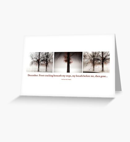 Winter Triptych Greeting Card