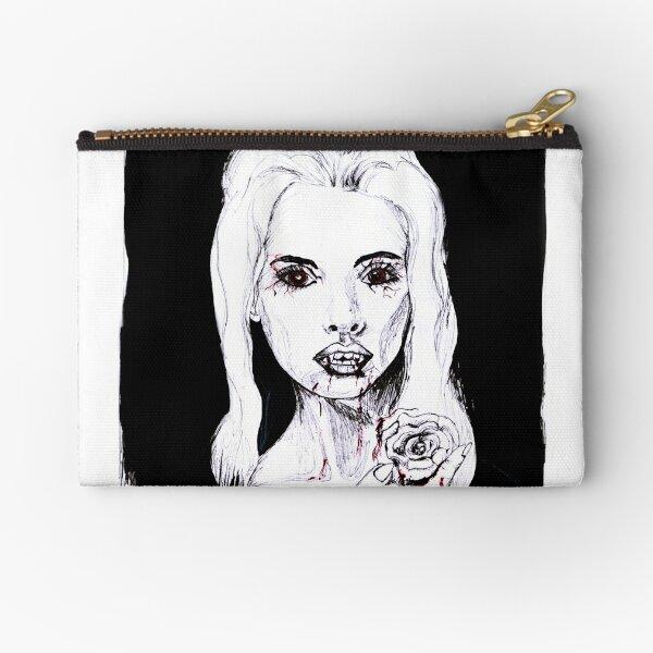 Vampir Lady, Portrait in schwarz weiß Täschchen