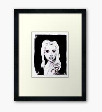 Vampir Lady, Portrait in schwarz weiß Gerahmtes Wandbild