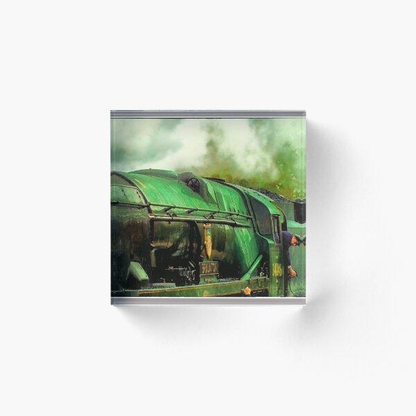 Green Steam again Acrylic Block