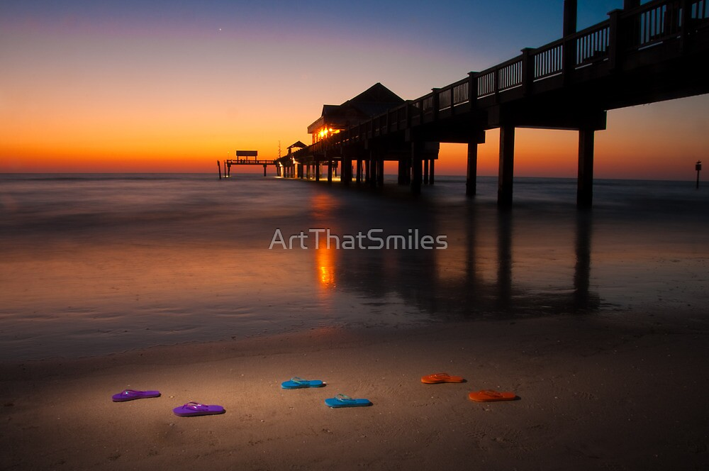 """""""Small Steps"""" - flip flops on Clearwater Beach, Florida by ArtThatSmiles"""
