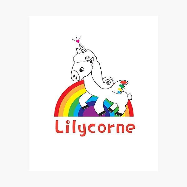 Lilycorne the Unicorn, version 3 Photographic Print