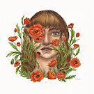 Hide and Seek Watercolor Illustration by Catherine Herold