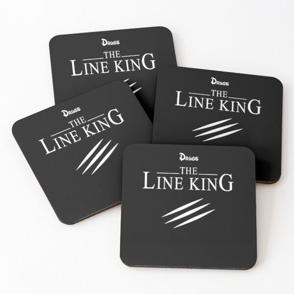 Funny Drugs The Line King Design Gift Coasters (Set of 4)