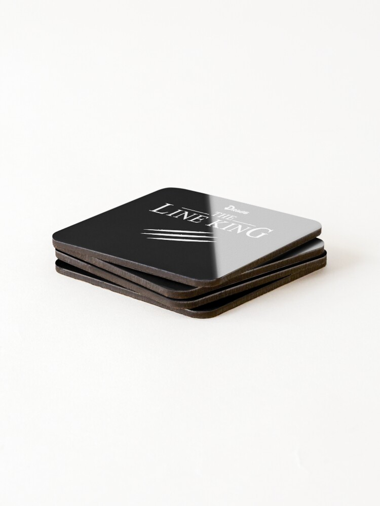 Alternate view of Funny Drugs The Line King Design Gift Coasters (Set of 4)