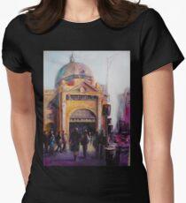 Morning bustle Flinders street Station Melbourne T-Shirt
