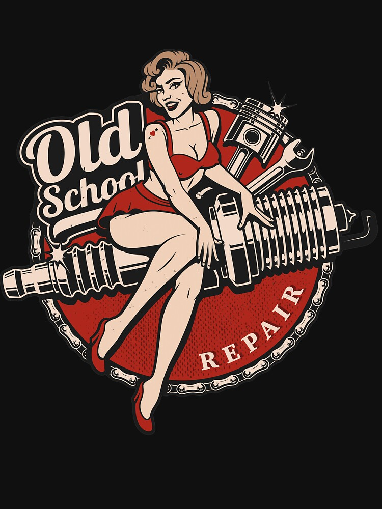 Hot Rod Retro Classic Rockabilly Old School Gift by Pizzaboy777