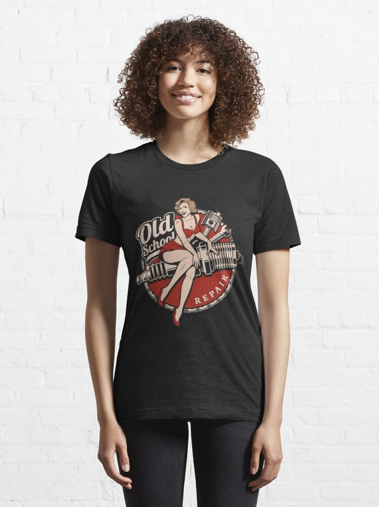 Alternate view of Hot Rod Retro Classic Rockabilly Old School Gift Essential T-Shirt