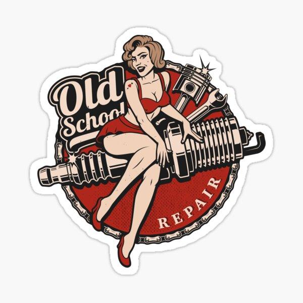 Hot Rod Retro Classique Rockabilly Old School Cadeau Sticker