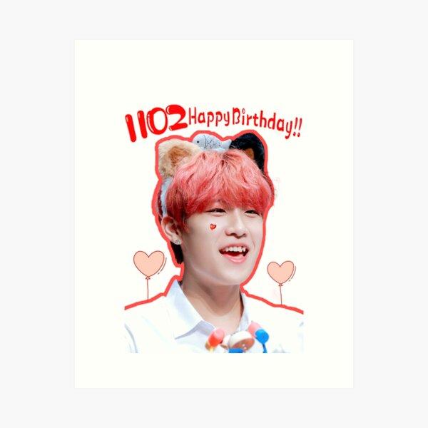 AB6IX Wanna One  Park Woojin Birthday 991102 Art Print