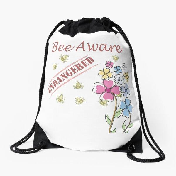 Save the Bees Drawstring Bag