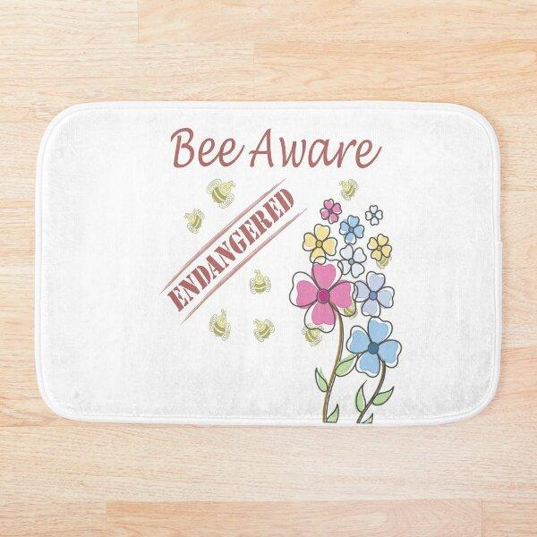 Save the Bees Bath Mat
