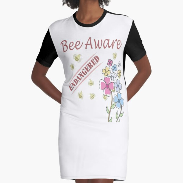Save the Bees Graphic T-Shirt Dress