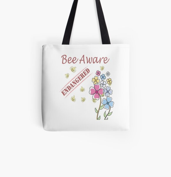 Save the Bees All Over Print Tote Bag
