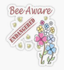 Save the Bees Transparent Sticker