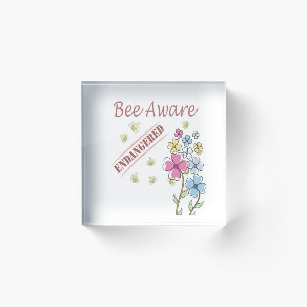 Save the Bees Acrylic Block