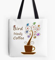 Save Birds' Habitats with Bird Friendly Coffee Tote Bag