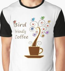 Save Birds' Habitats with Bird Friendly Coffee Graphic T-Shirt