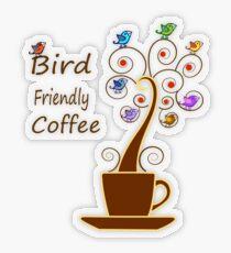 Save Birds' Habitats with Bird Friendly Coffee Transparent Sticker