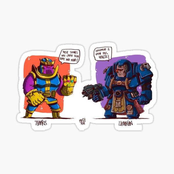 MCU Meets WH40k : Warhammer 40k crossover comic Sticker