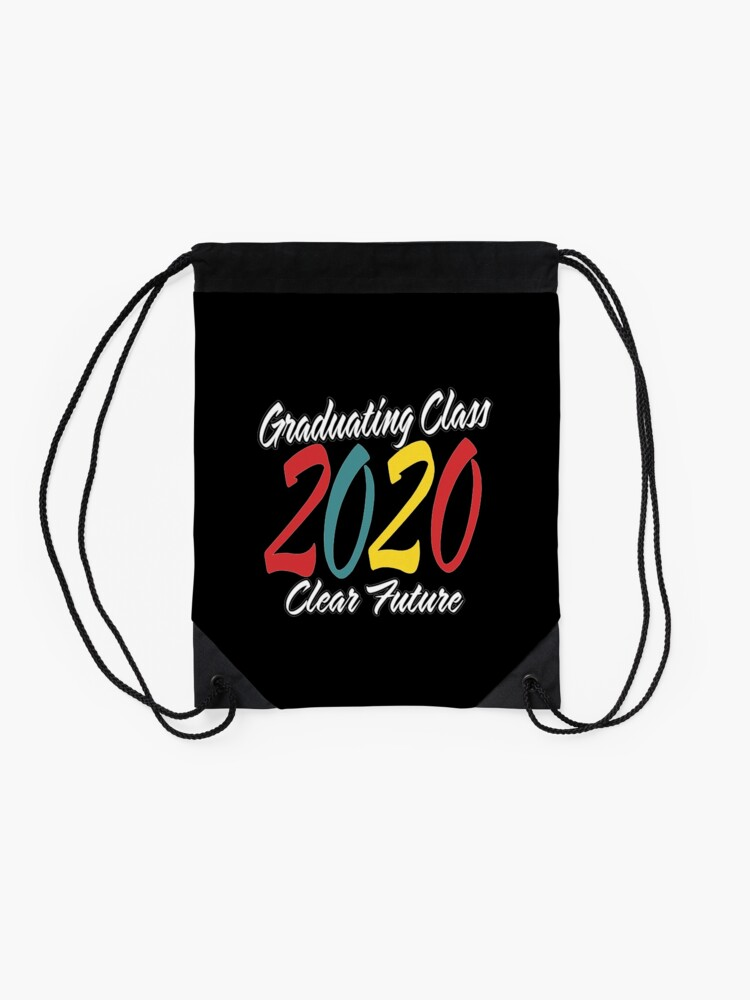 Alternate view of Class of 2020 Graduation Clear Future. Drawstring Bag