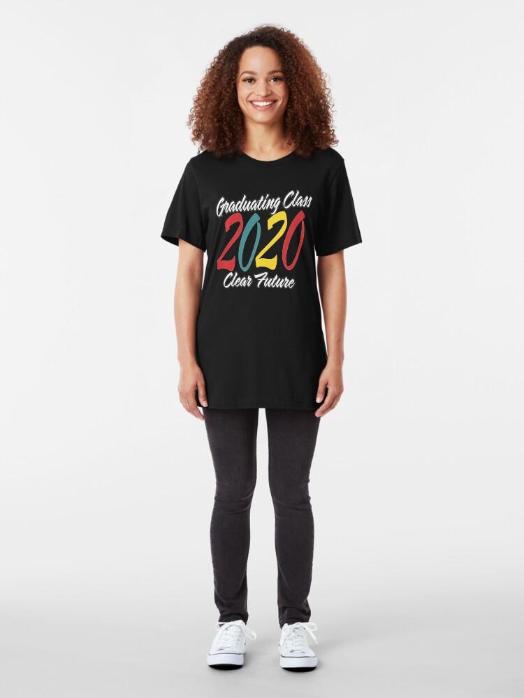 Alternate view of Class of 2020 Graduation Clear Future. Slim Fit T-Shirt
