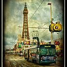 Blackpool Promenade and Tram. by Brian Tarr