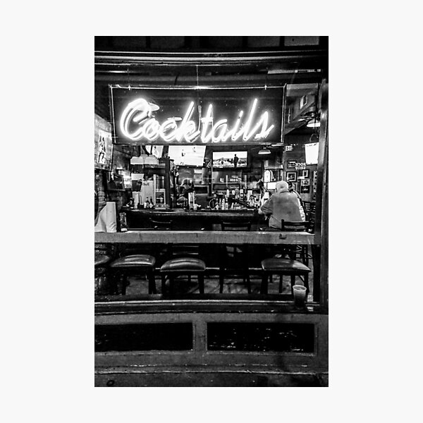 Cocktails in neon Photographic Print