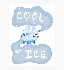 Cool as Ice Photographic Print
