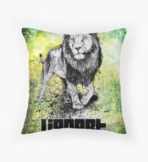 Lionart Throw Pillow