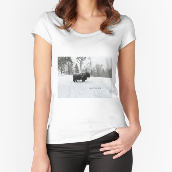 Winter's Day Fitted Scoop T-Shirt