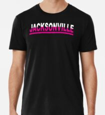 Jacksonville Pro Football Breast Cancer Awareness Merchandise Support Gift Cool Pink Ribbon Family Heart Fun Love Premium T-Shirt