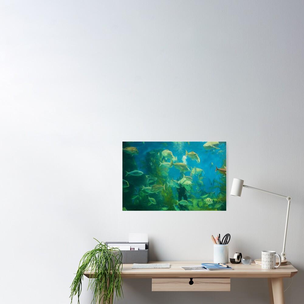 Cool Aquarium (digital painting) Poster
