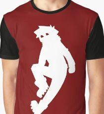 Jeffery Silhouette White Graphic T-Shirt