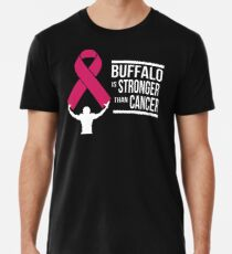 Buffalo Pro Football Breast Cancer Awareness Merchandise Support Gift Cool Pink Ribbon Family Love Premium T-Shirt