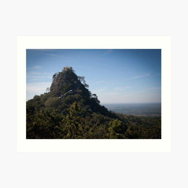 Mount Popa - the Mount Olympus of Burma Art Print