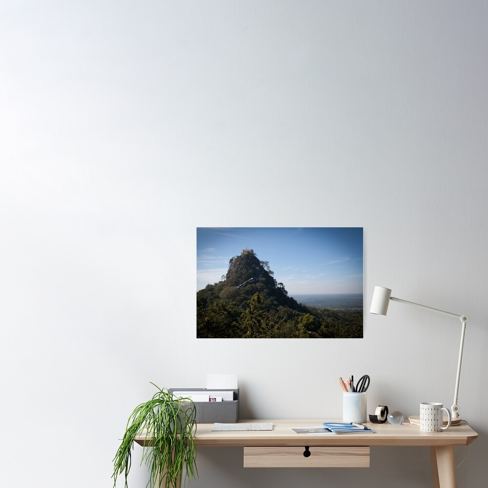 Mount Popa - the Mount Olympus of Burma Poster