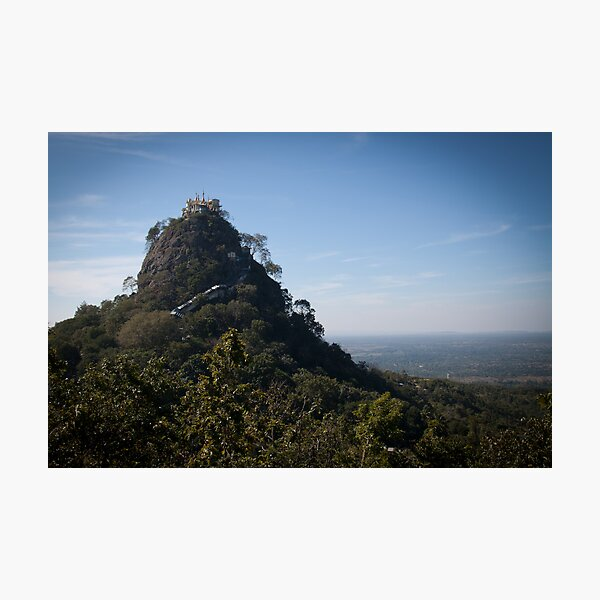 Mount Popa - the Mount Olympus of Burma Photographic Print