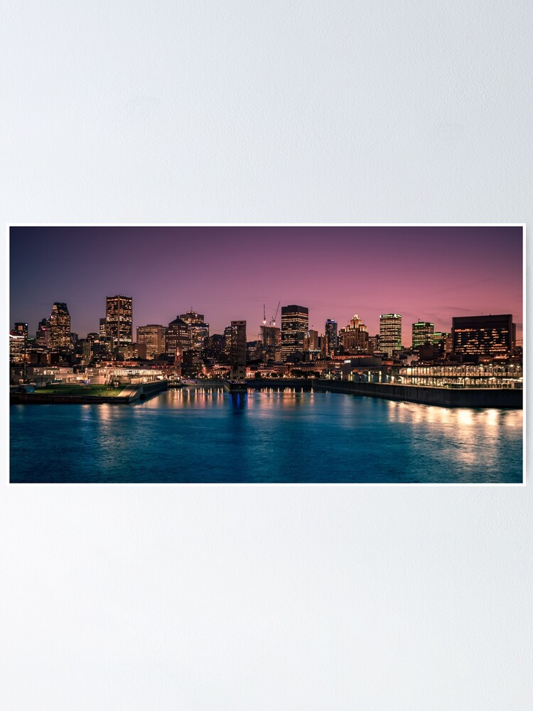 Alternate view of Montreal at Night Poster