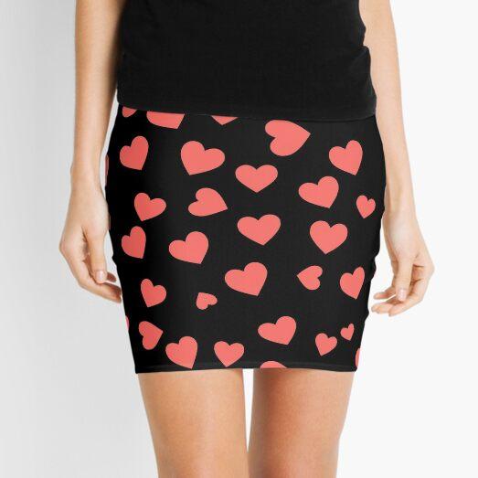 Patrón del corazón Minifalda