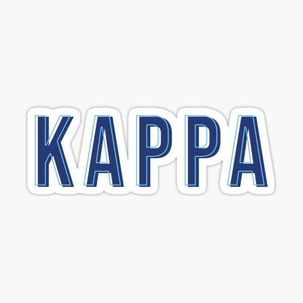 Kappa Blue Letters Sticker