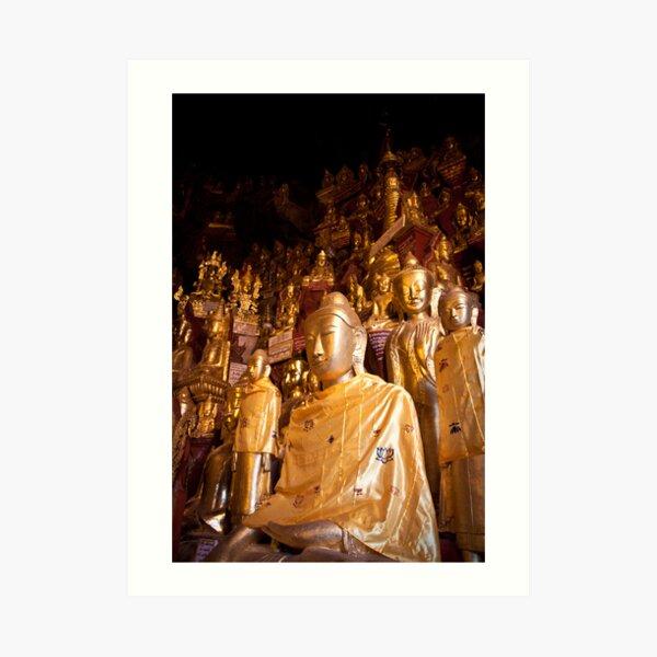 Shwe Oo Min Natural Cave Pagoda Art Print