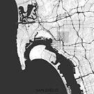 San Diego Karte grau von HubertRoguski