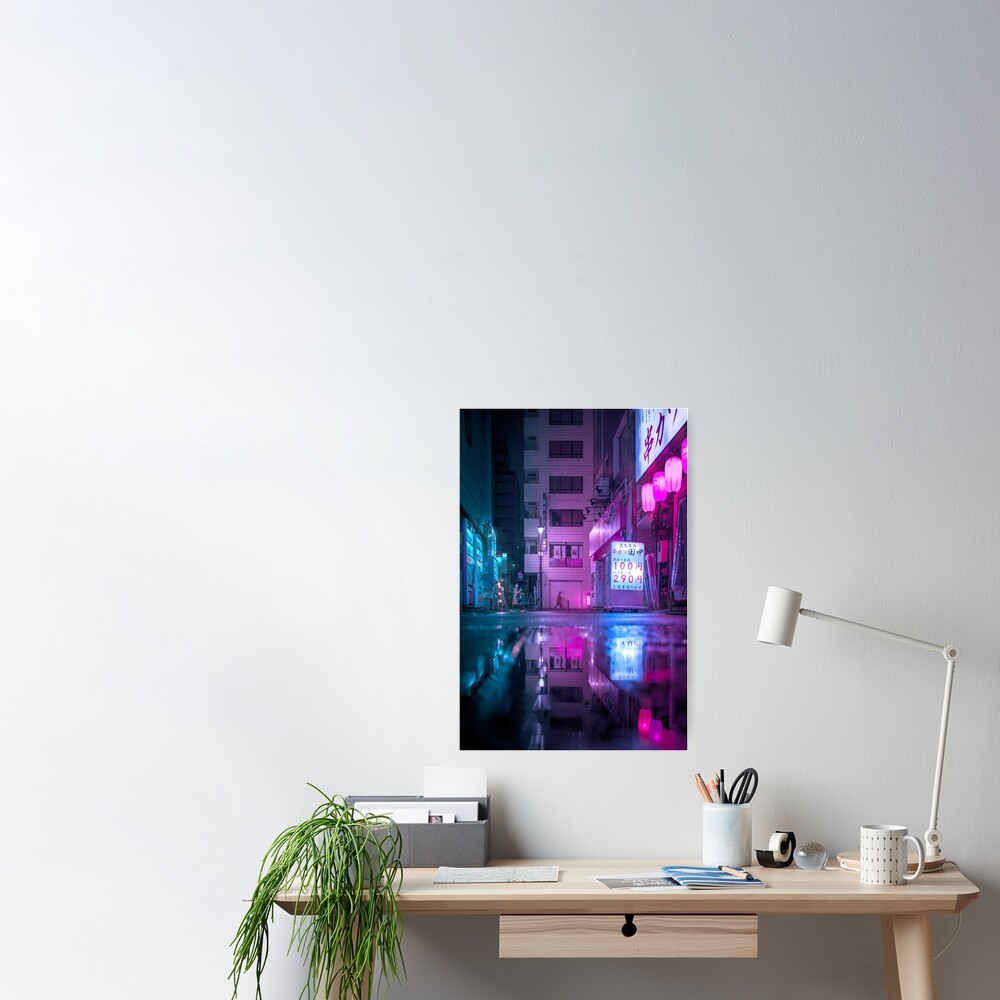 Reflection in the water Poster