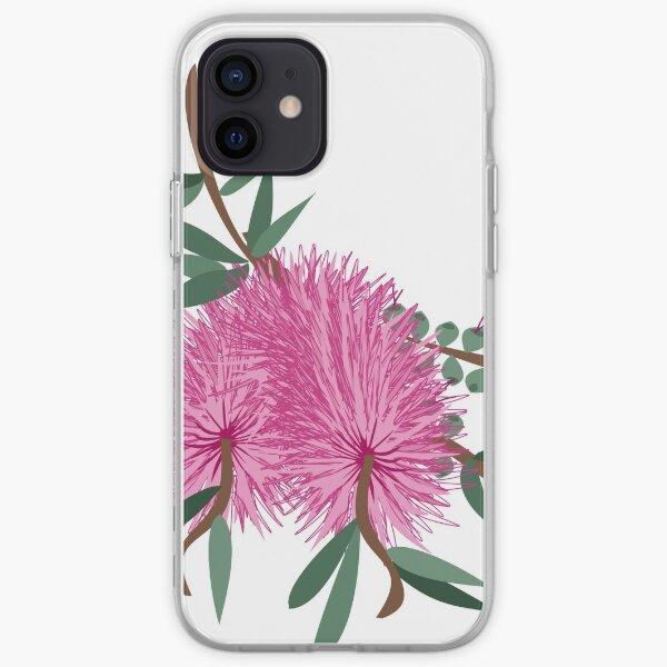 Australian Native Pink Bottlebrush Flower iPhone Soft Case