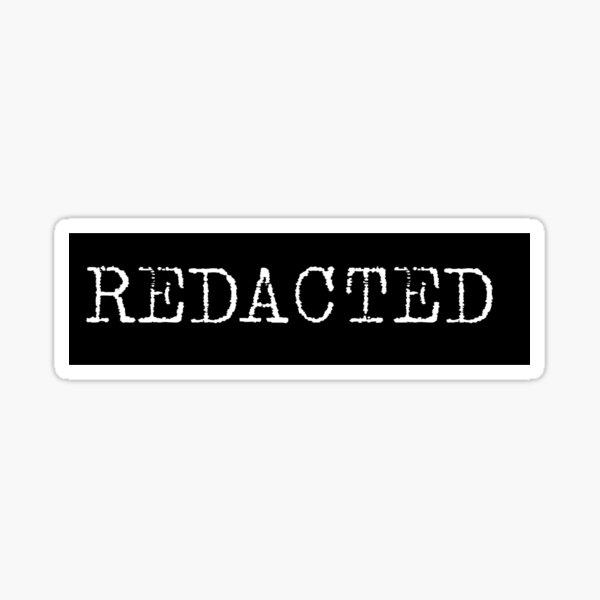Redacted Sticker