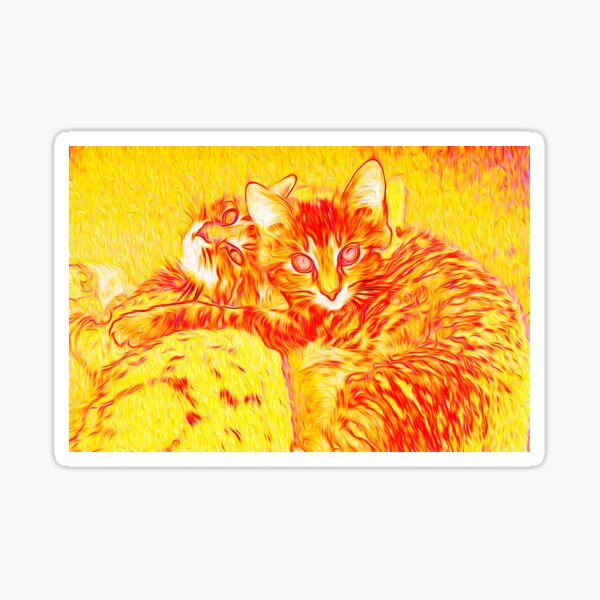 Fire Cats Sticker