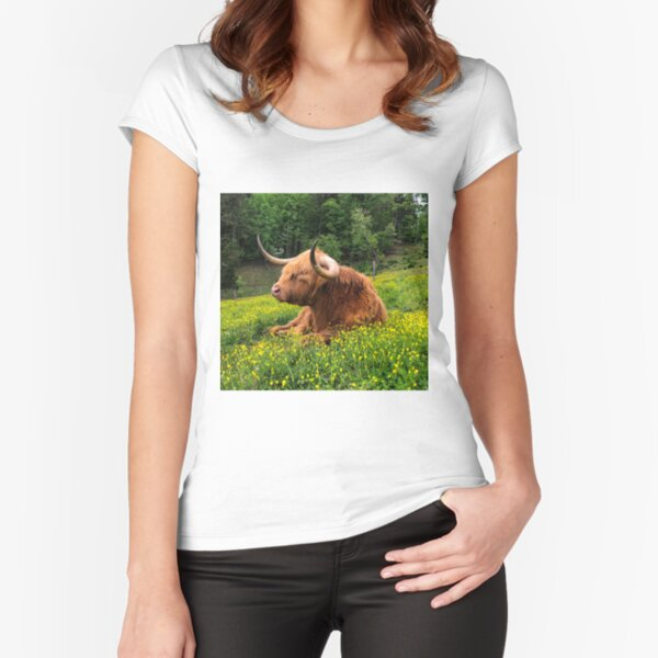 Field of Gold Fitted Scoop T-Shirt
