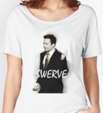 Fallon Swerve White Women's Relaxed Fit T-Shirt