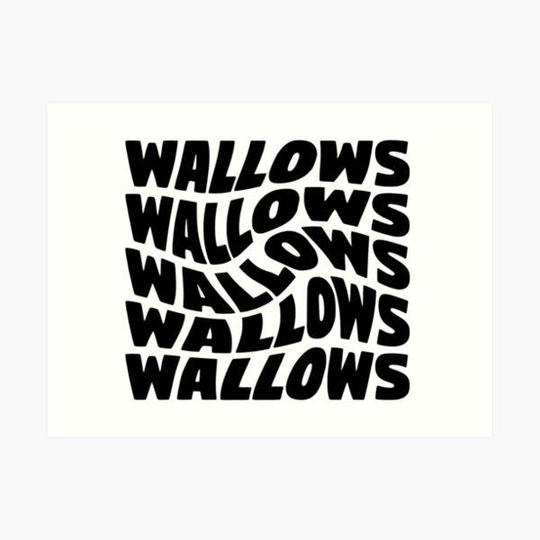black wallows swirl design Art Print